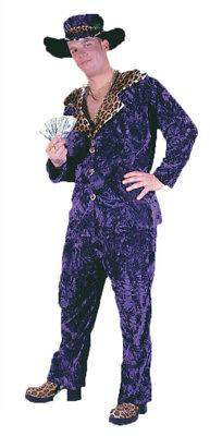 Big Daddy Velvet Costume - Big Daddy Pimp Purple Velvet Costume Adults Mens Halloween Dress Up Funworld