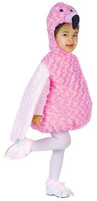 Flamingo Infant Costume Hooded Plush Swirl Fur Body Halloween Underwraps Toddler (Toddler Flamingo Costume)