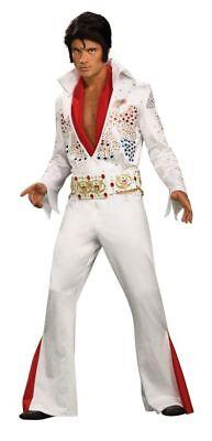 Elvis Grand Heritage White Jumpsuit with Sequins Adult Costume