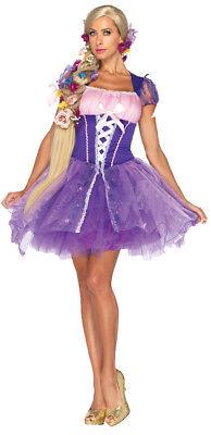 Rapunzel Erwachsene Damen Kostüm Disney Lila Bäuerinnenkleid Rock Leg Avenue