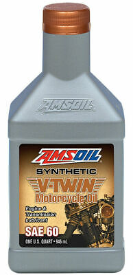 Aceite Motor Amsoil SAE 60 Synthetic V-Twin Motorcycle Oil For Harley-Davidson