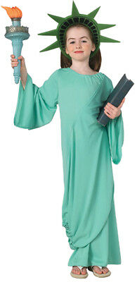 Statue of Liberty Child Costume Patriotic Gown Rubies 11259 Halloween