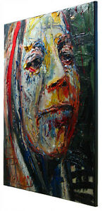 ORIGINAL-OIL-PAINTING-LARGE-IMPRESSIONIST-ART-POP-FUNKY-PORTRAIT-FOLK-ABSTRACT