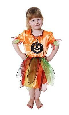 New Halloween Girls Toddler Cute Pumpkin Fancy Dress Costume Age 2-3 Years - Cute 3 Girl Halloween Costumes