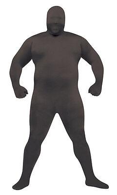 Skin Suit Black Adult Plus  Costume](Black Skin Costume)