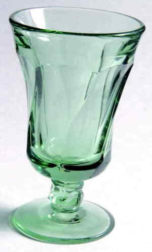 "6 FOSTORIA JAMESTOWN GREEN JUICE GLASS 4 3/4"""