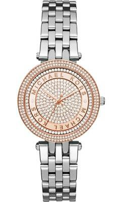 MICHAEL KORS DARCI WOMENS WATCH MK3446 CRYSTAL PAVE DIAL METAL STRAP RRP £259.00