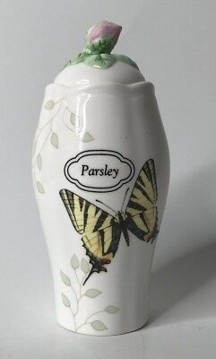 Lenox Butterfly Meadow Parsley Spice Jar with Lid - Bottle Lenox Spice Jar