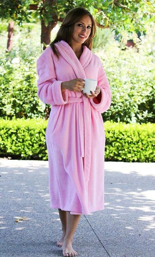 Figleaves Snuggle Shawl Collar Robe