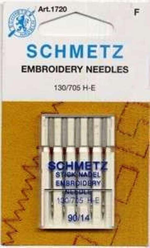 Schmetz Embroidery Needles Size 90/14 Count 5  Machine Needles