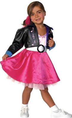 Jukebox Jill Highschool Kinder Karneval Fasching Kostüm 104-128