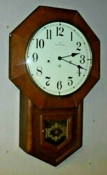 Hamilton Head Master Schoolhouse Westminster Chime Regulator Wall Clock Working