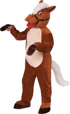 Pferd Henry Maskottchen Erwachsene Kostüm Bauernhof Tier Safari Party Halloween
