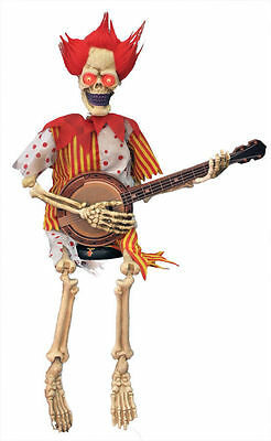 Banjo-playing skeletons are an impressive garden ornament