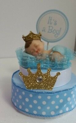 PRINCE CROWN BOY BABY SHOWER CAKE TOPPER CENTERPIECE  DECORATION  (Prince Crown Cake Topper)