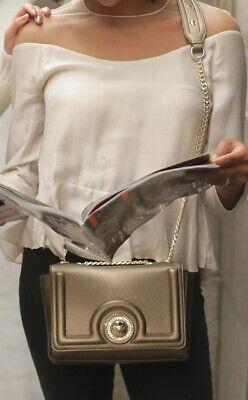 Versace Jeans Gold Crossbody Bag Purse