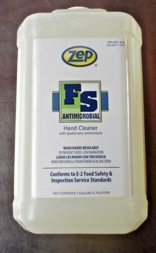 New ZEP FS Antimicrobial Hand Cleaner 4 Gallon Case
