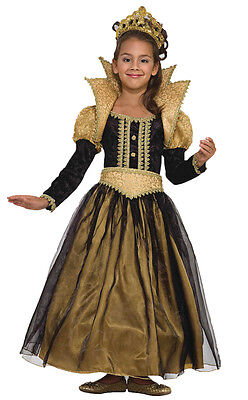 Renaissance Princess Child Costume Classic Medieval Queen Theme Party Halloween