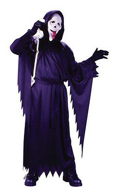 Child Scream Movie Ghost Face Whassup Boy's Costume Fits up to Size - Ghost Boy Costume