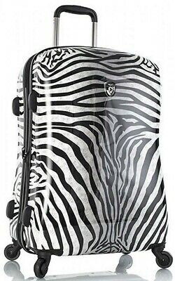 "NEW HEYS ZEBRA EQUUS 26"" HARDSIDE EXPANDABLE 4 WHEEL SPINNER LUGGAGE"