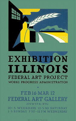 Decor Exhibition Poster.Room Design.Illinois Federal Art gallery.Home (Federal Art Gallery)