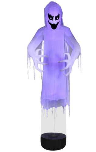 Halloween Haunted Gemmy 12-ft X 4.36-ft Lighted Reaper Airblown Inflatable