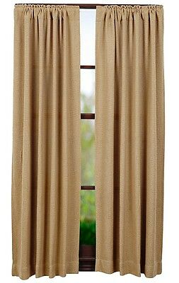 """Used, Pair Country Primitive Burlap Natural Curtain Panels 84"""" Rustic Farmhouse Cabin for sale  Portland"""