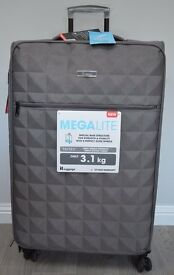 New IT Luggage Megalite Quilted 8 wheel Grey Large Suitcase (3 available)