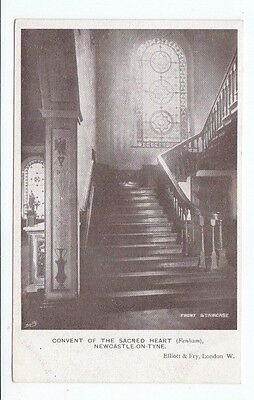 Postcard. Convent of the Sacred Heart. Newcastle on Tyne. Front Staircase.