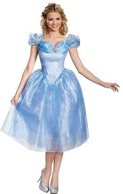 LICENSED DISNEY CINDERELLA DELUXE ADULT HALLOWEEN COSTUME WOMEN'S SIZE - Licensed Disney Halloween Costumes