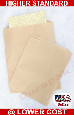 1000 Natural Kraft 8.5x11 Paper Merchandise Shopper Bag Grocery Shopping Bags