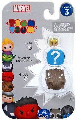 Tsum Tsum Marvel Series 3 Loki Mystery Groot 3 Figure Set