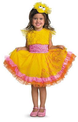 Big Bird Frilly Toddler Girl Costume Sesame Street Yellow - Big Bird Toddler Costume