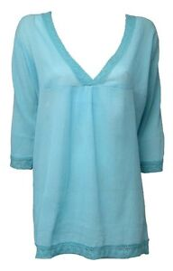 BEACHWEAR COVER UP KAFTAN CRINKLE COTTON 3/4 SLEEVED BEACH TOP SARONG LIDO