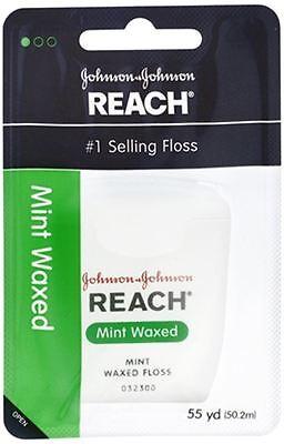 (REACH Mint Waxed Floss 55 Yards)