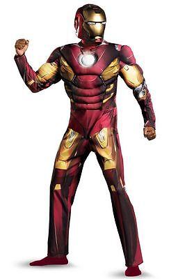 Erwachsene Avengers Kostüm (The Avengers Iron Man Mark VII Muskel Erwachsene Kostüm Größe 50-52 Brandneu -)