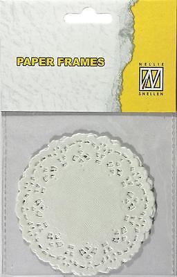Papierdeckchen rund Paper Doilies Spitzendeckchen paperframes round 8,9cm PD-004