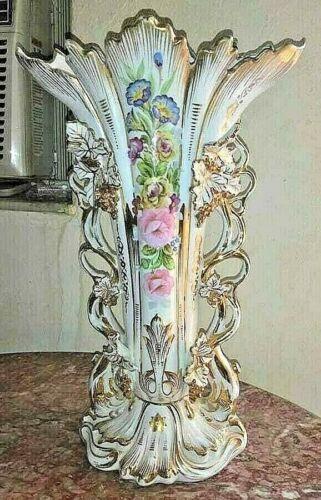 Vintage Huge Old Paris French Porcelain Vase. XIX C.