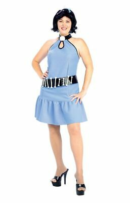 Betty Rubble Plus Size Adult Women's Costume The Flintstones Blue Rubies