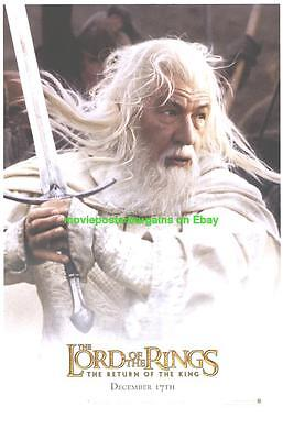RETURN OF THE KING MOVIE POSTER DS  GANDALF ADVANCE