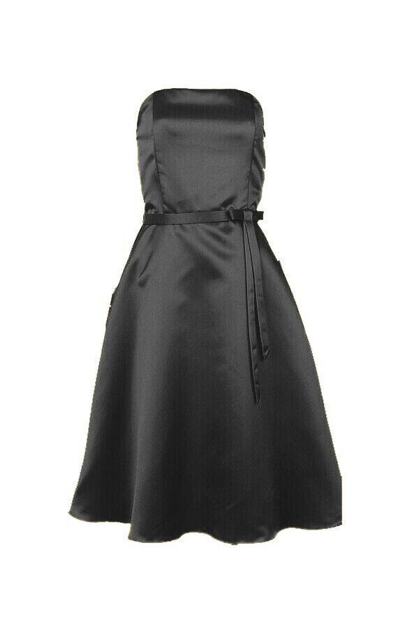 50er Jahre Cocktailkleid Partykleid Abendkleid Vintage kurz schwarz Gr.36 NEU