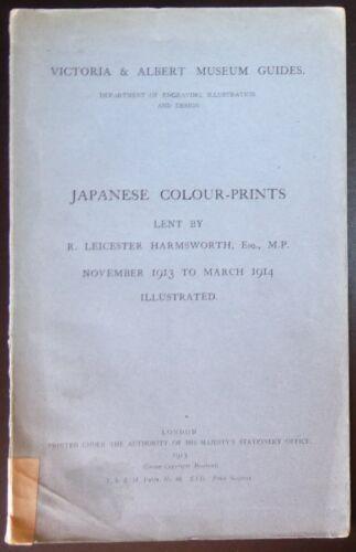 Japanese Colour-Prints Harmsworth Collection London V&A Exhibition 1913 Japan
