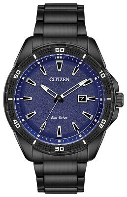 Citizen Eco-Drive Men's Black Band 45mm Watch AW1585-55L