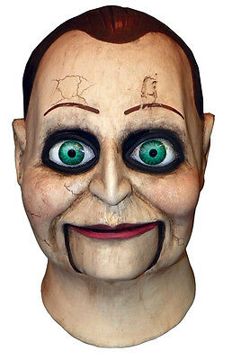 Halloween HORROR DEAD SILENCE BILLY PUPPET LATEX DELUXE MASK Haunted House NEW (Dead Silence Mask)