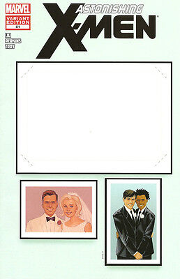 Marvel Comic Create Your Own Superhero (ASTONISHING X-MEN #51 CREATE YOUR OWN WEDDING ALBUM VARIANT LGBT GAY MARRIAGE)