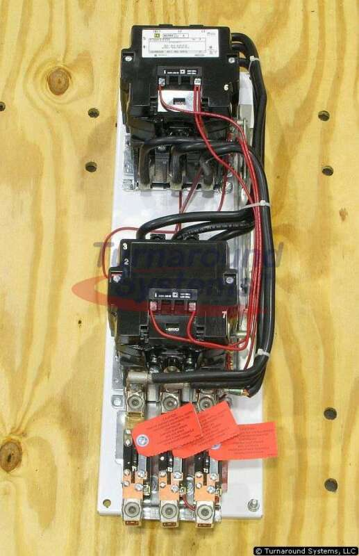 Square D 8736SFO1V02SY59 Starter, Size 4 Reversing, 120 VAC Coil, NEW!