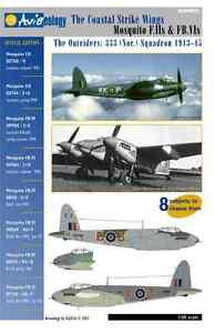 Outrider-Mosquito-F-II-amp-FB-IVs-333-Sqn-1-48-scale-Aviaeology-Decals-039-n-Docs