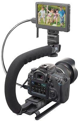 Pro Grip Camera Stabilizing Bracket Handle For Sony Slt-a65v Slt-a65