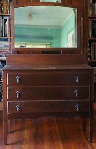 DRESSING TABLE - Old Antique Wood Australia -early 30s - TRITTONS Paddington Brisbane North West Preview