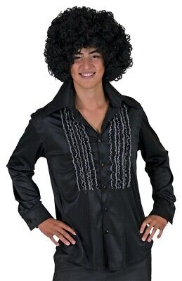 Saturday Night Shirt Black Adult Mens Costume Disco 50s Theme Party Halloween (Disco Themed Costumes)